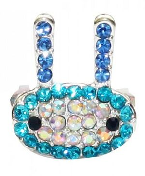 D'chica Studded Bunny Comb Clip - Blue