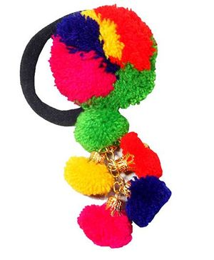 D'chica Pom Pom Rubber Band - Multicolour