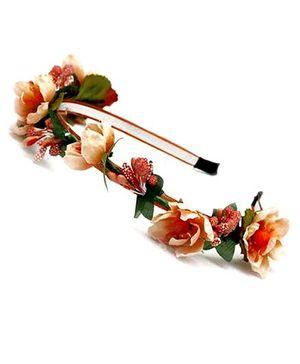 D'chica Flower Hairband - Orange