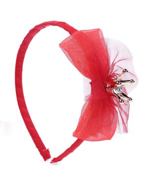 Stol'n Net Bow Applique Hair Band - Red