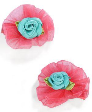Stol'n Floral Design With Rose Motifs Hair Clip - Magenta