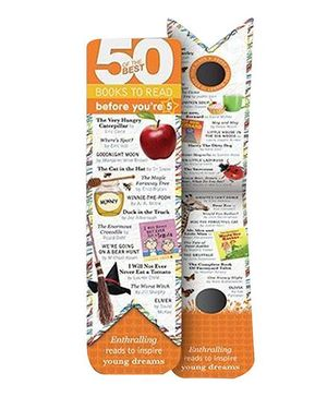 Mufubu 50 Of The Best Books Bookmark Before You're 5 - Orange And White