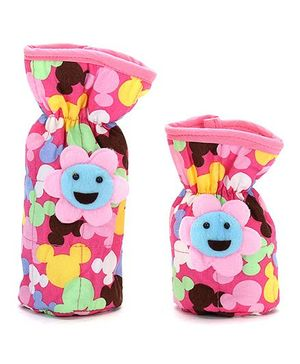 1st Step Bottle Cover Pack of 2 Multiprint - Blue and Pink