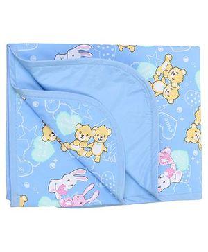 1st Step Baby Mat Bear Print - Sky Blue