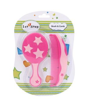 1st Step Brush And Comb Set - Pink