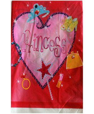 ShopAParty Princess Heart Print Table Cover - Pink
