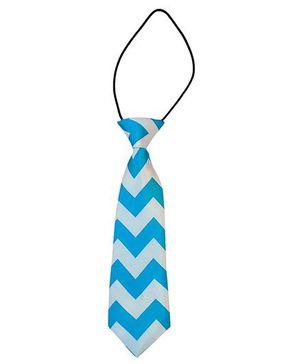Kuddle Kids Zigzag Print Tie - Blue