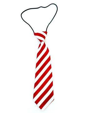 Kuddle Kids Cross Stripe Print Tie - Red & White