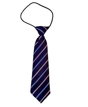 Kuddle Kids Cross Stripe Print Tie - Blue