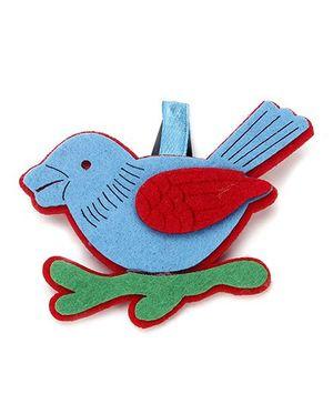 Sugarcart Felt Bird Clip - Blue
