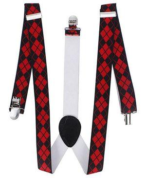 Kid-o-nation Printed Suspenders - Red Black