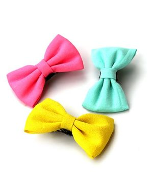 Pigtails And Ponys Popsicle Bows Hair Clip - Pink Blue Yellow