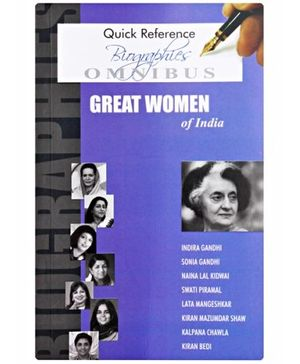 Quick Reference Biographies Great Women Of India