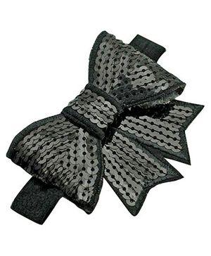 PinkXenia Shabby Fower Diamond Headband - Black
