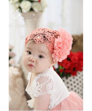 Akinos Kids Chiffon Watermelon Flower Headband - Peach
