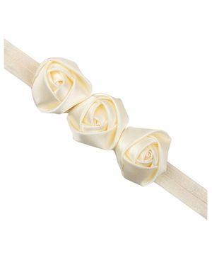 PinkXenia Cream 3 Rosset Flower Headband  - Cream