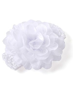Akinos Kids Handmade Flower Crochet Headband - White