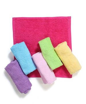 Luvable Friends Pack Of 6 Wash Cloths - Multicolour