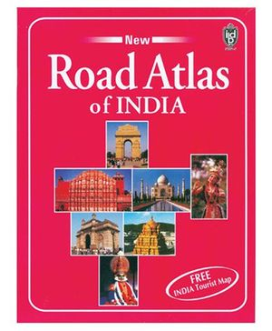 New Road Atlas Of India - English