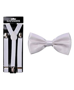 Tiekart Calm Bow & Suspender - White