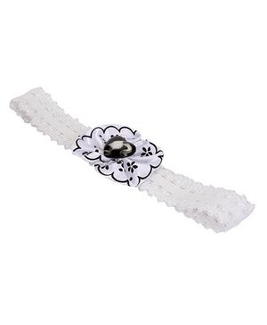Barbie Floral Design With Heart Motif Head Band - White