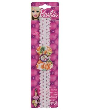 Barbie Headband Bow Applique - White