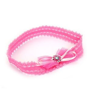 Barbie Headband Bow Applique - Pink
