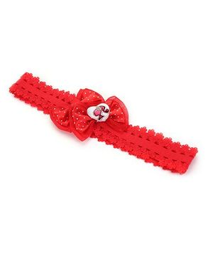 Barbie Headband Bow Applique - Red