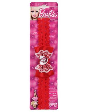 Barbie Headband Bow Applique - Red