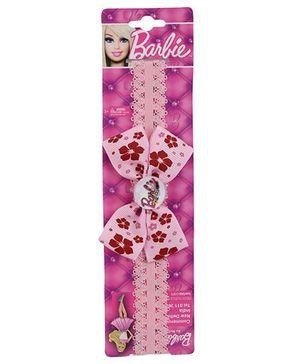 Barbie Headband Bow Applique - Pink