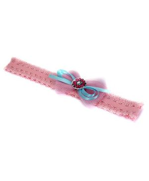 Barbie Headband Bow Applique - Light Pink