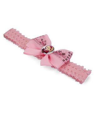 Barbie Headband Bow Applique - Light Pink