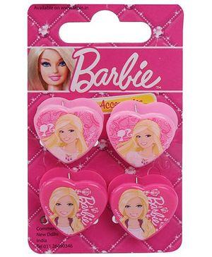 Barbie Hair Clutcher Butterfly Clip Set Of 4 - Pink