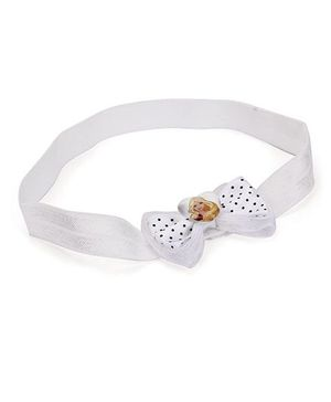 Barbie Headband Bow Applique - White