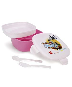Cello Homeware Lovely Lunch box With Govinda Ala Re Print - Pink