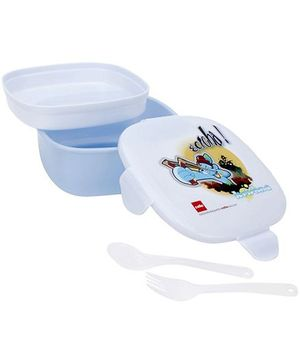 Cello Homeware Krishna Print Lunch Box - White And Blue