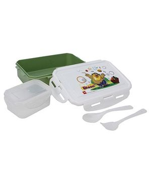 Cello Homeware Bheem Print Lunch Box - Green & White