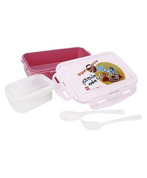 Cello Homeware Govinda Ala Print Lunch Box - Dark Pink
