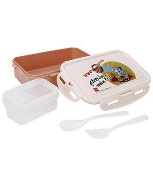 Cello Homeware Govinda Ala Print Lunch Box - Peach