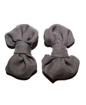 Bling & Bows Hairclip - Grey