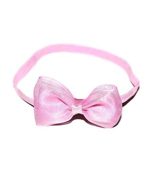 Bling & Bows Headband With Bow Applique - Pink