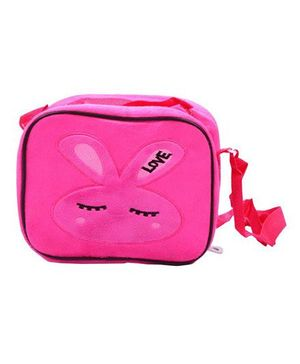 Prettykrafts Kids Tiffin Sling Bag with Insulation Fur Finish - Pink