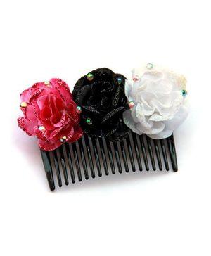 Cutekins Shimmery Floral Rapunzel's Haircomb - Multicolor