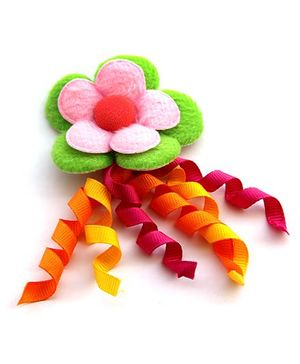 Cutekins Flower Ribbons Tic Tac Clip - Green