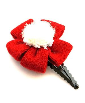 Cutekins Flower On Tic Tac Clip - Red & White