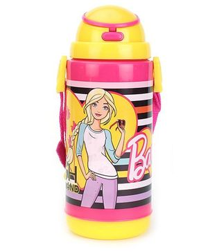 Barbie Insulated Water Bottle Pink And Yellow - 480 ml