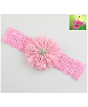Cherry Blossoms Pretty Lace Headband - Pink