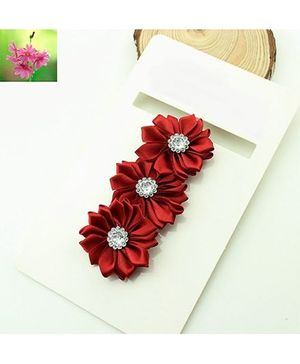 Cherry Blossoms Shiny Floral Hairband - Red