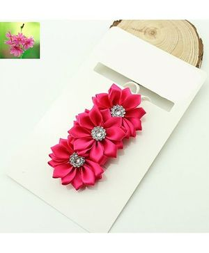 Cherry Blossoms Shiny Floral Hairband - Pink
