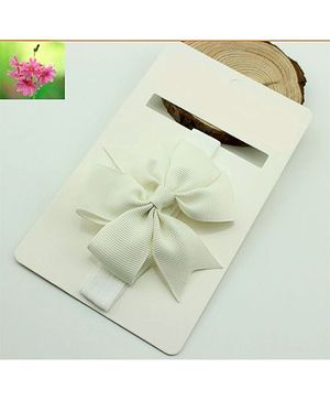 Cherry Blossoms Bow Hairband - White